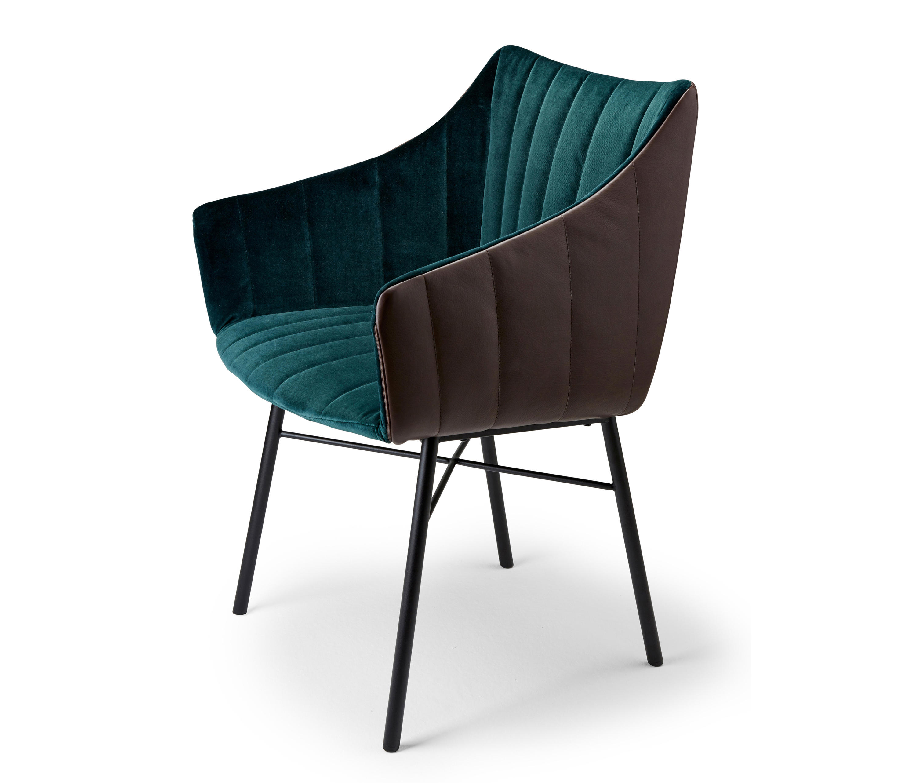 Rubie Armchair High With Steel Frame 4 Legs Architonic