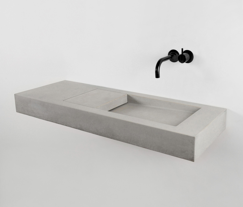 Concrete Double Bathroom Sink