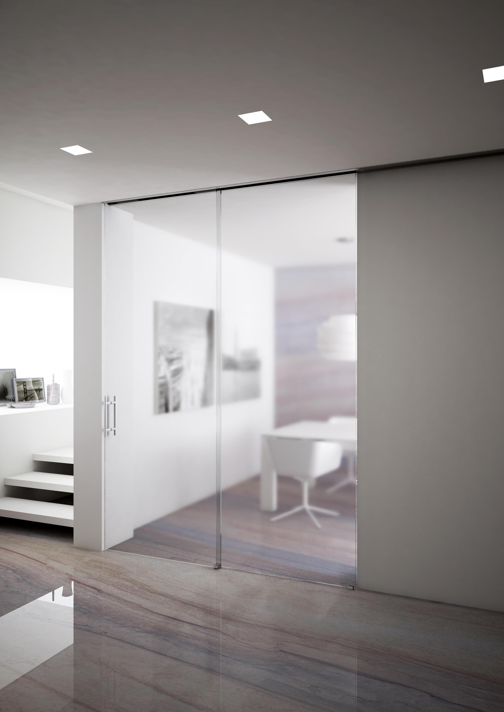 Frameless glass interior doors - Invisibile Telescopico Sincro V 7300 Internal Doors Metalglas Bonomi