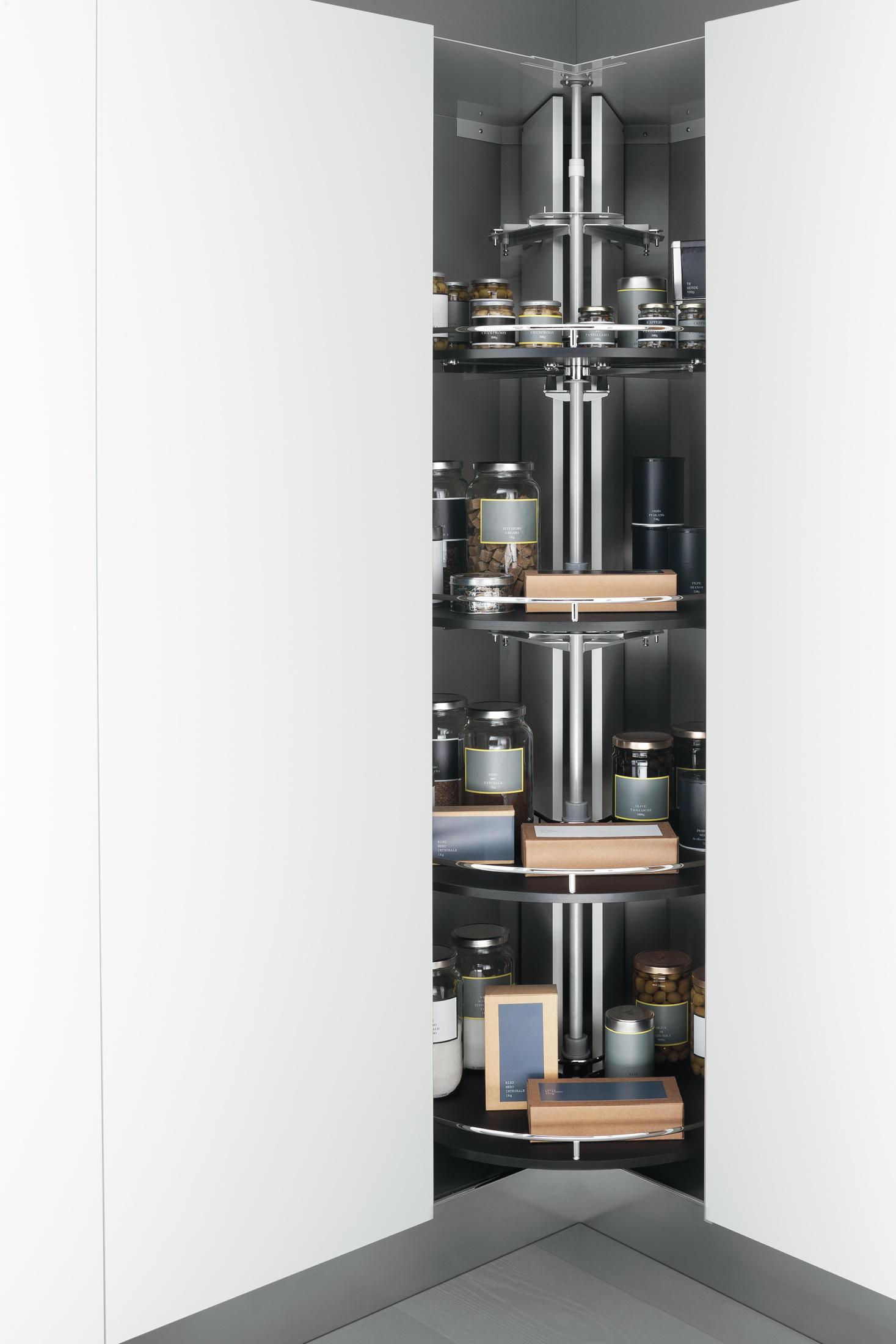 Tall units corner tall storage unit 90x90 cm with for Tall corner kitchen unit