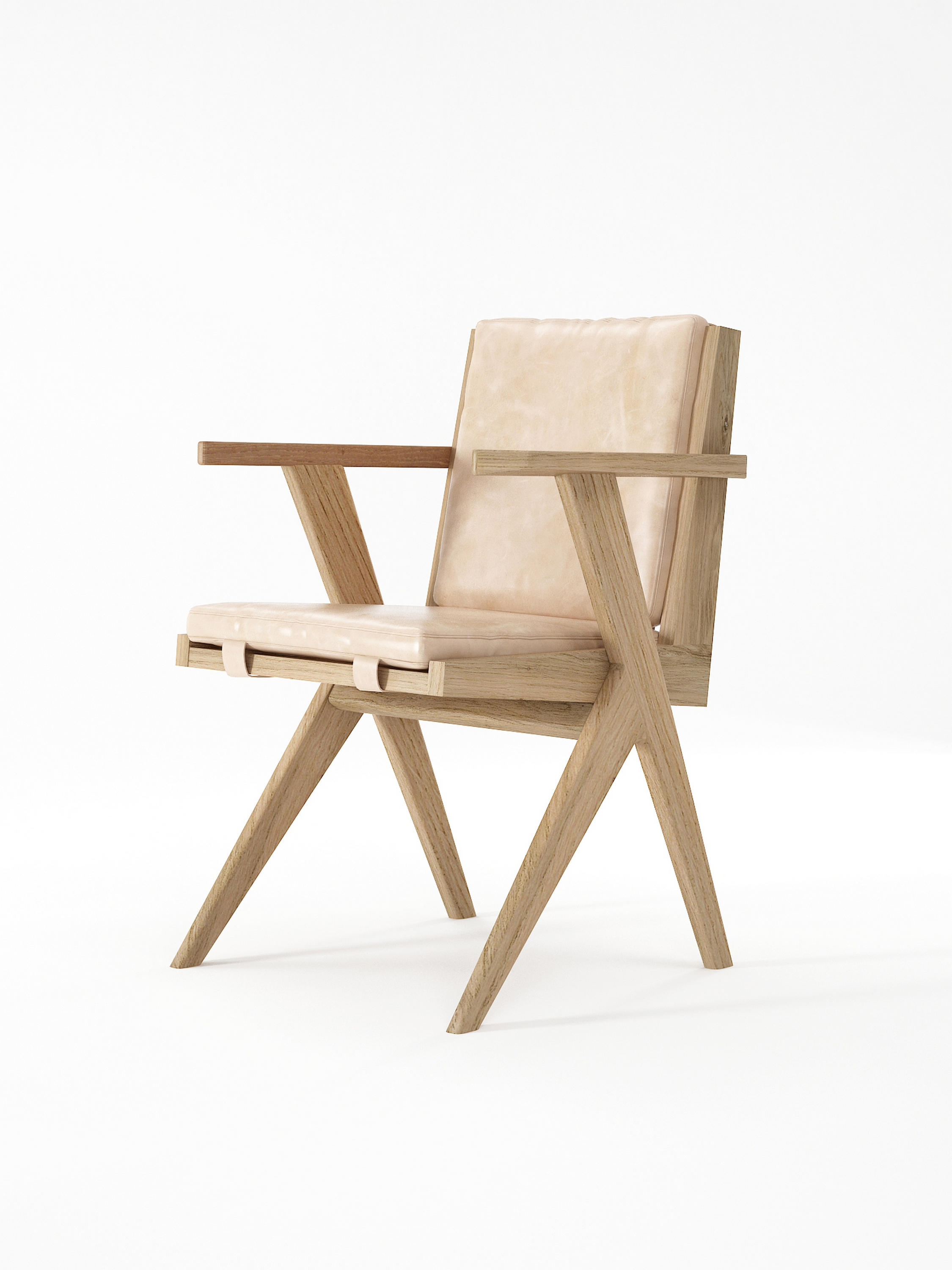 ... Tribute ARMCHAIR With LEATHER Aged Cream By Karpenter | Chairs ...