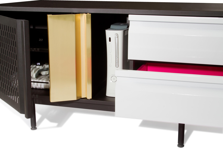 La Credenza En Español : Hot pink credenza multimedia sideboards from sauder boutique