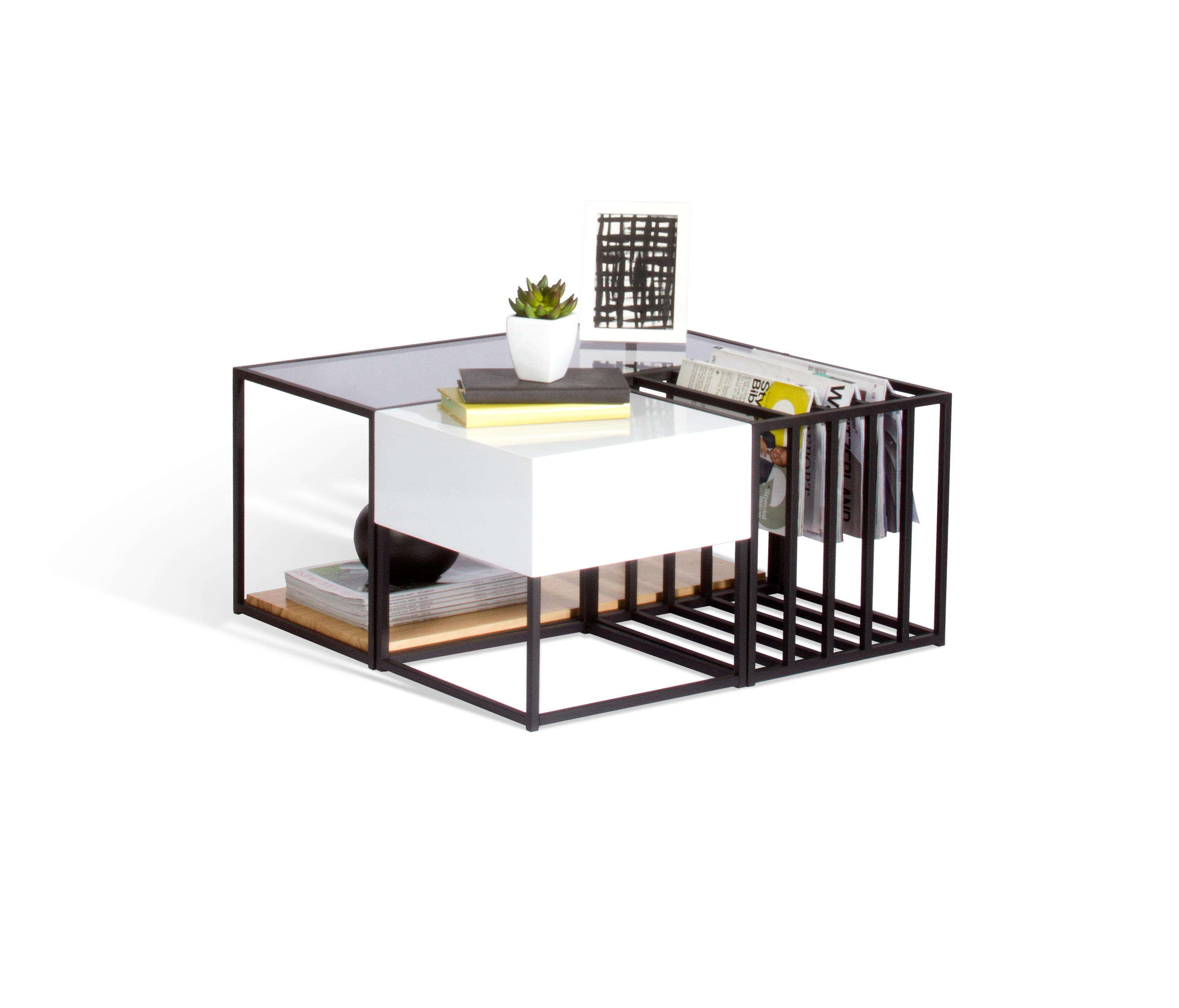 SPACE FRAME TABLE SET Coffee tables from Sauder Boutique