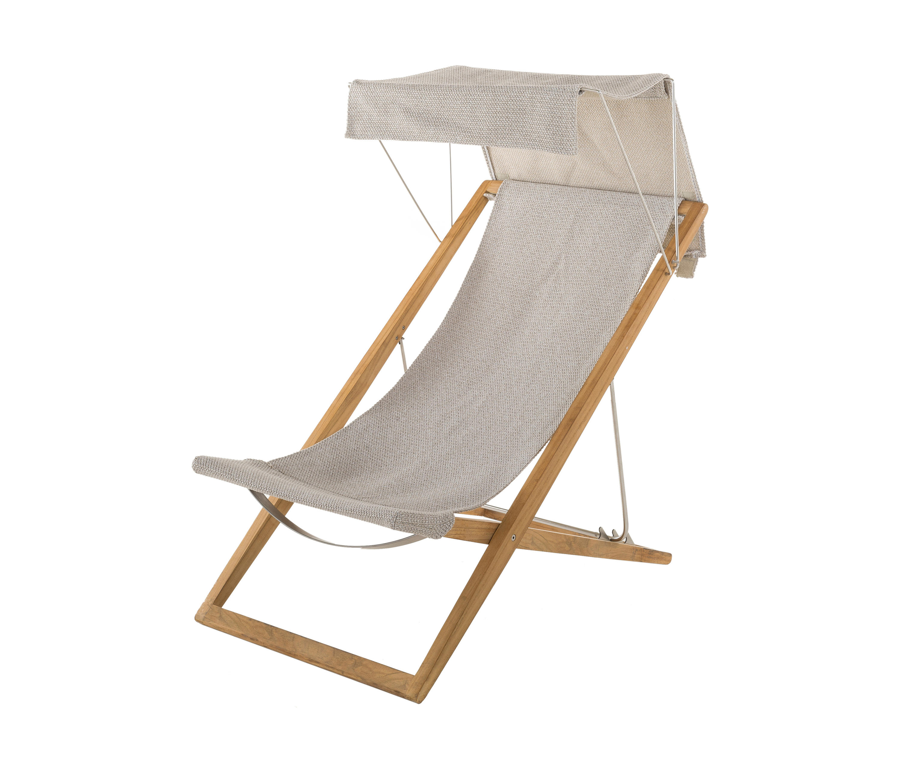 deck chair with sun canopy
