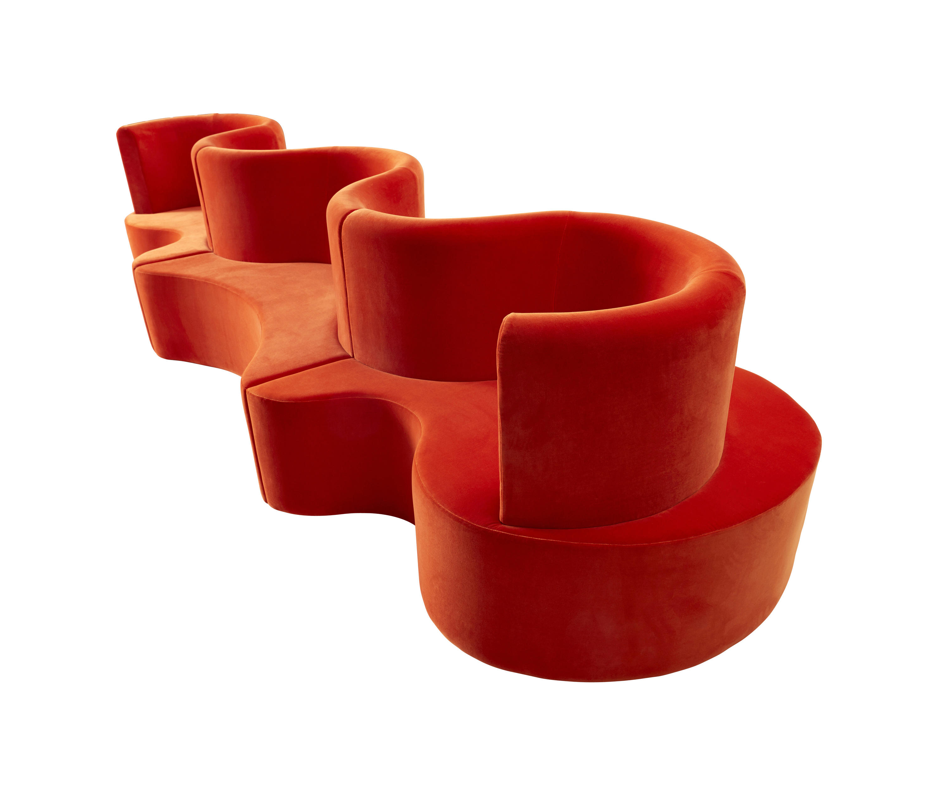 ... Cloverleaf | Sofa - with ext. unit by Verpan | Modular seating elements
