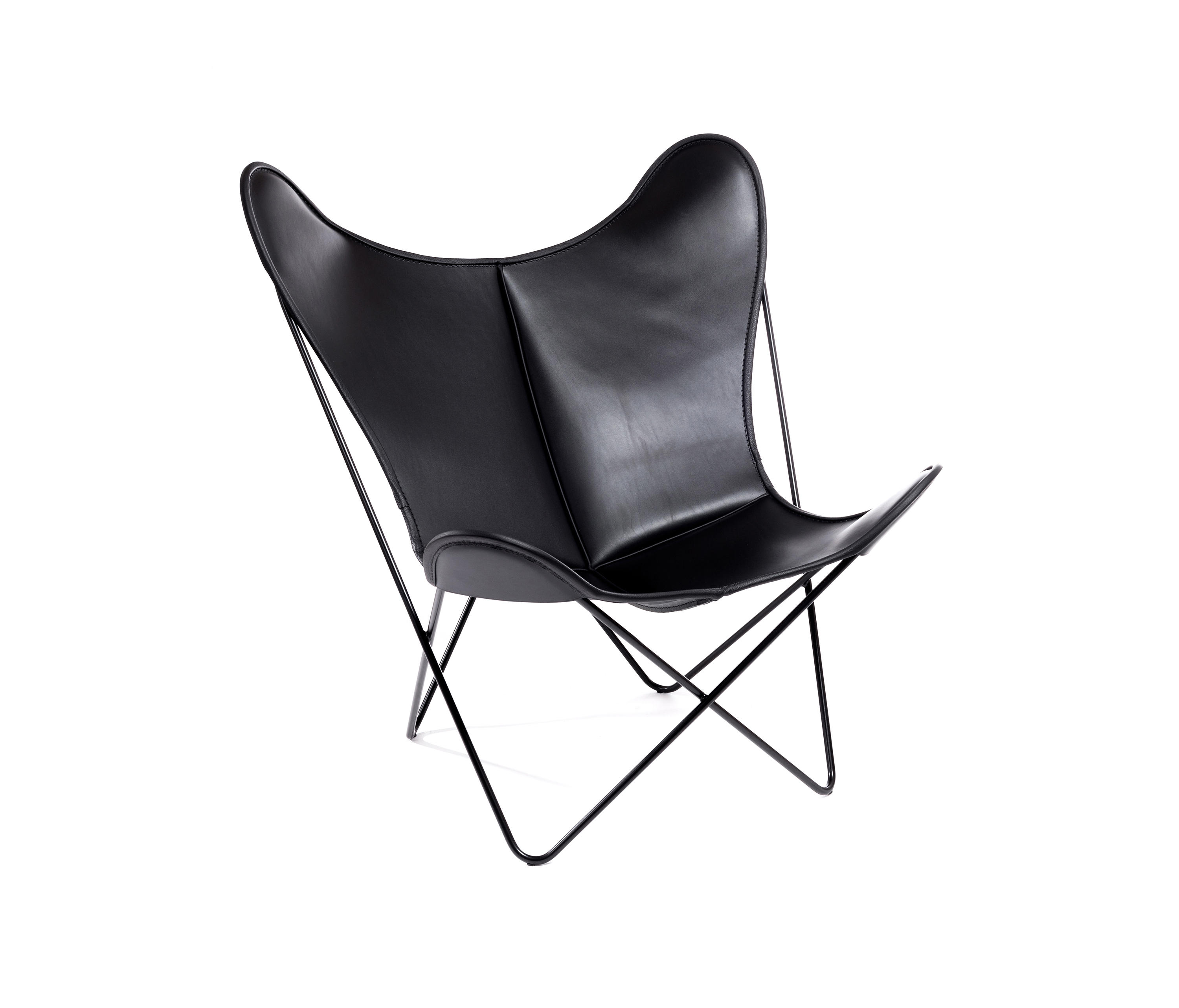 hardoy butterfly chair blank leder schwarz lounge chairs. Black Bedroom Furniture Sets. Home Design Ideas