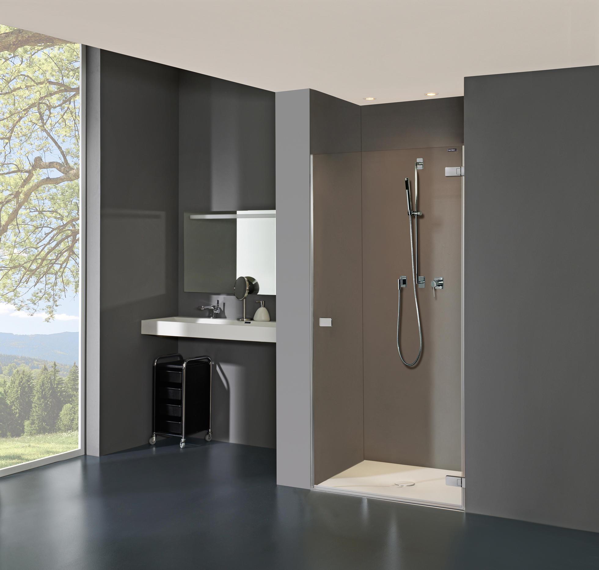 Duscholux Duschwand collection 3 plus - swing door in recess - shower screens from
