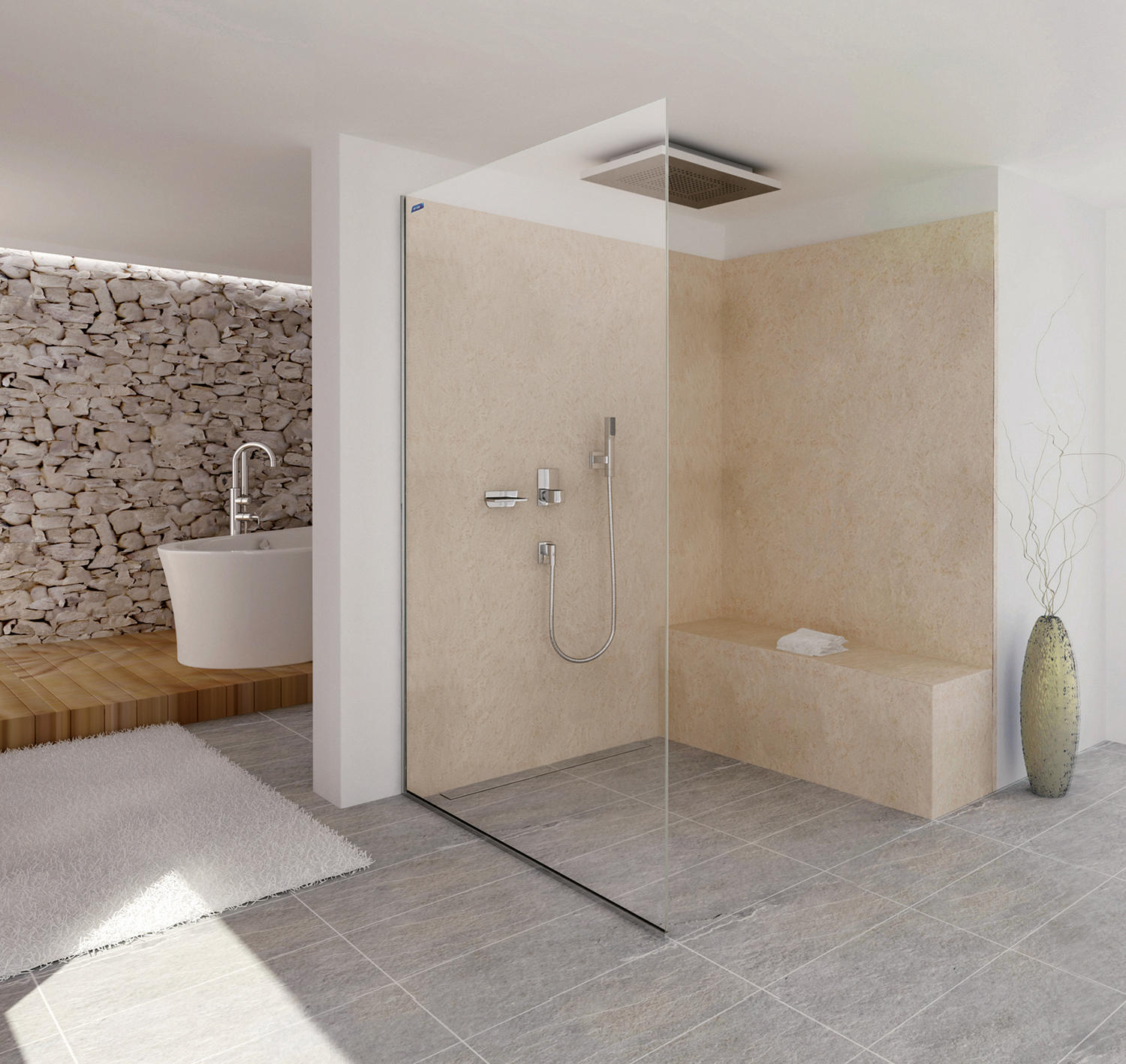 Air Walk In Shower Screens From Duscholux Ag Architonic