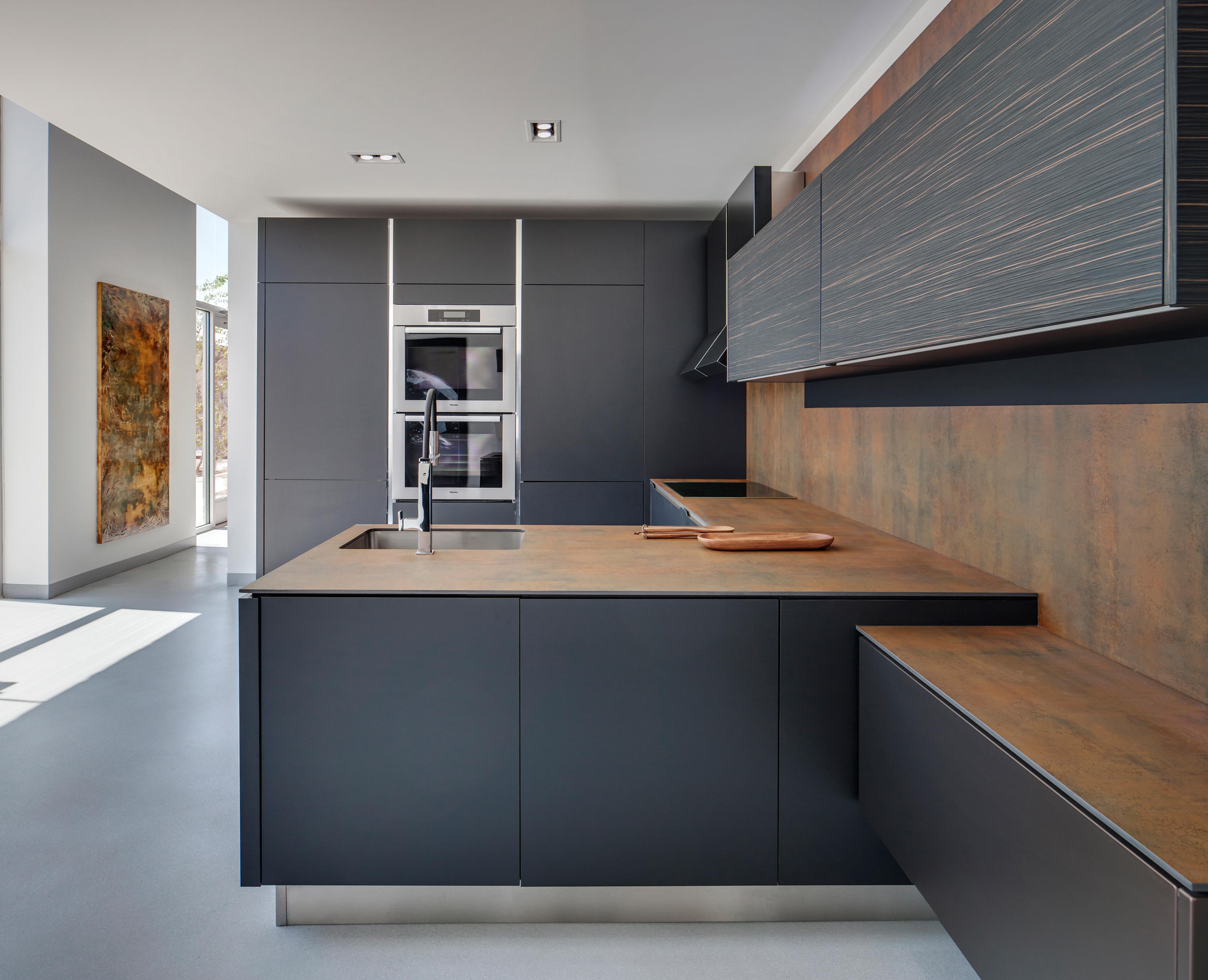 Kitchen Iron Corten Ceramic Tiles From Neolith