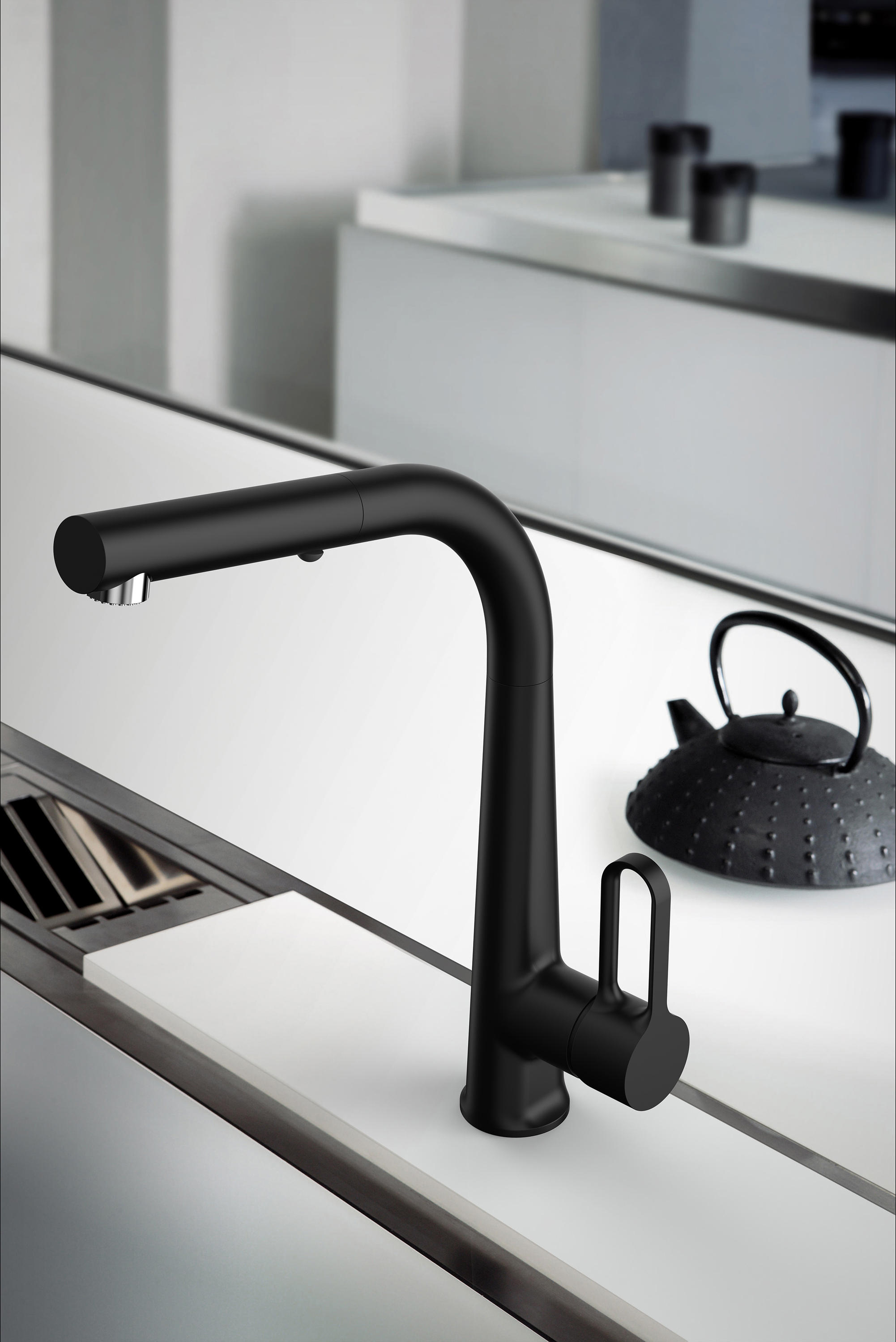 Skinny Black Kitchen Taps From Fima Carlo Frattini