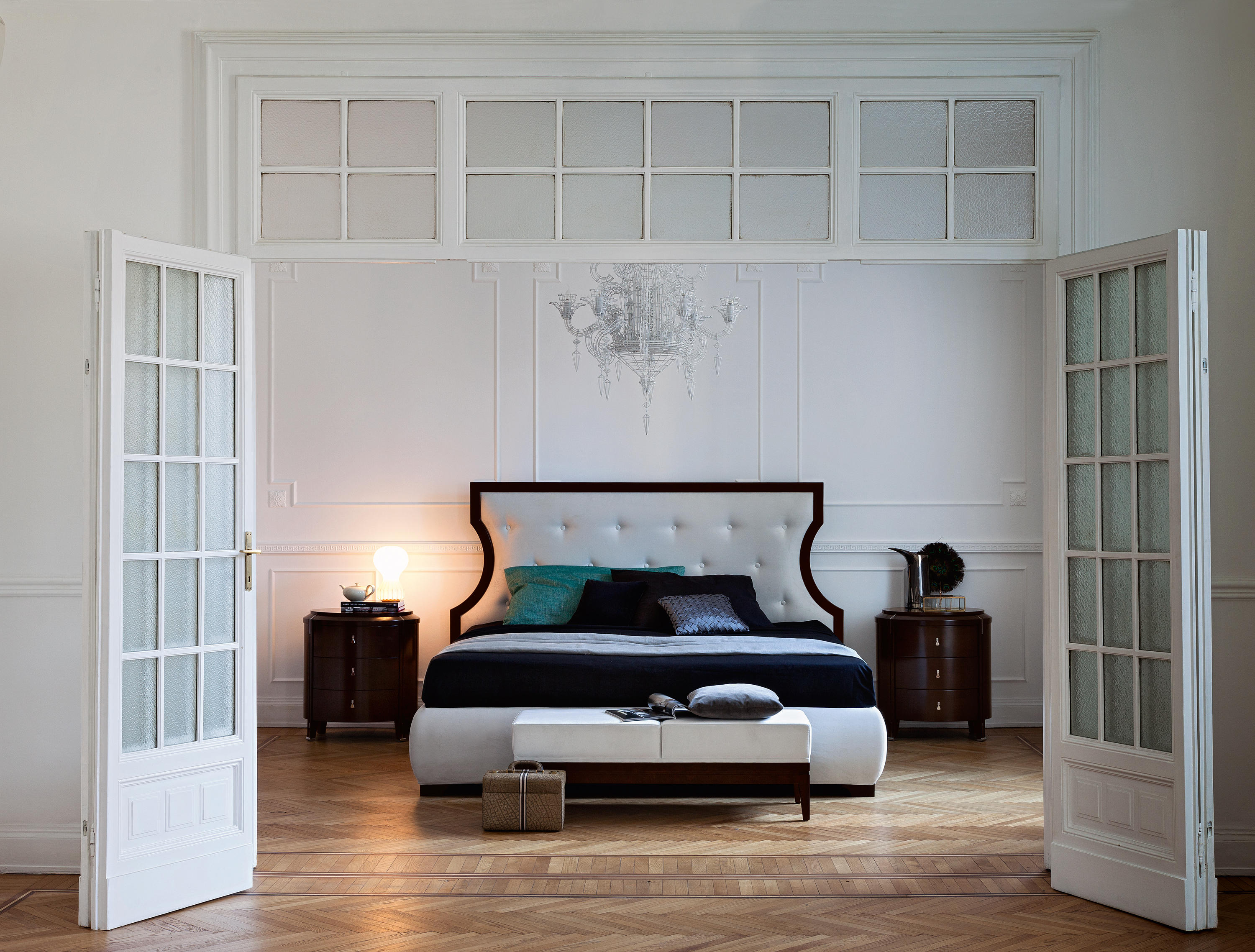 royale bed philipp selva double beds from selva architonic. Black Bedroom Furniture Sets. Home Design Ideas