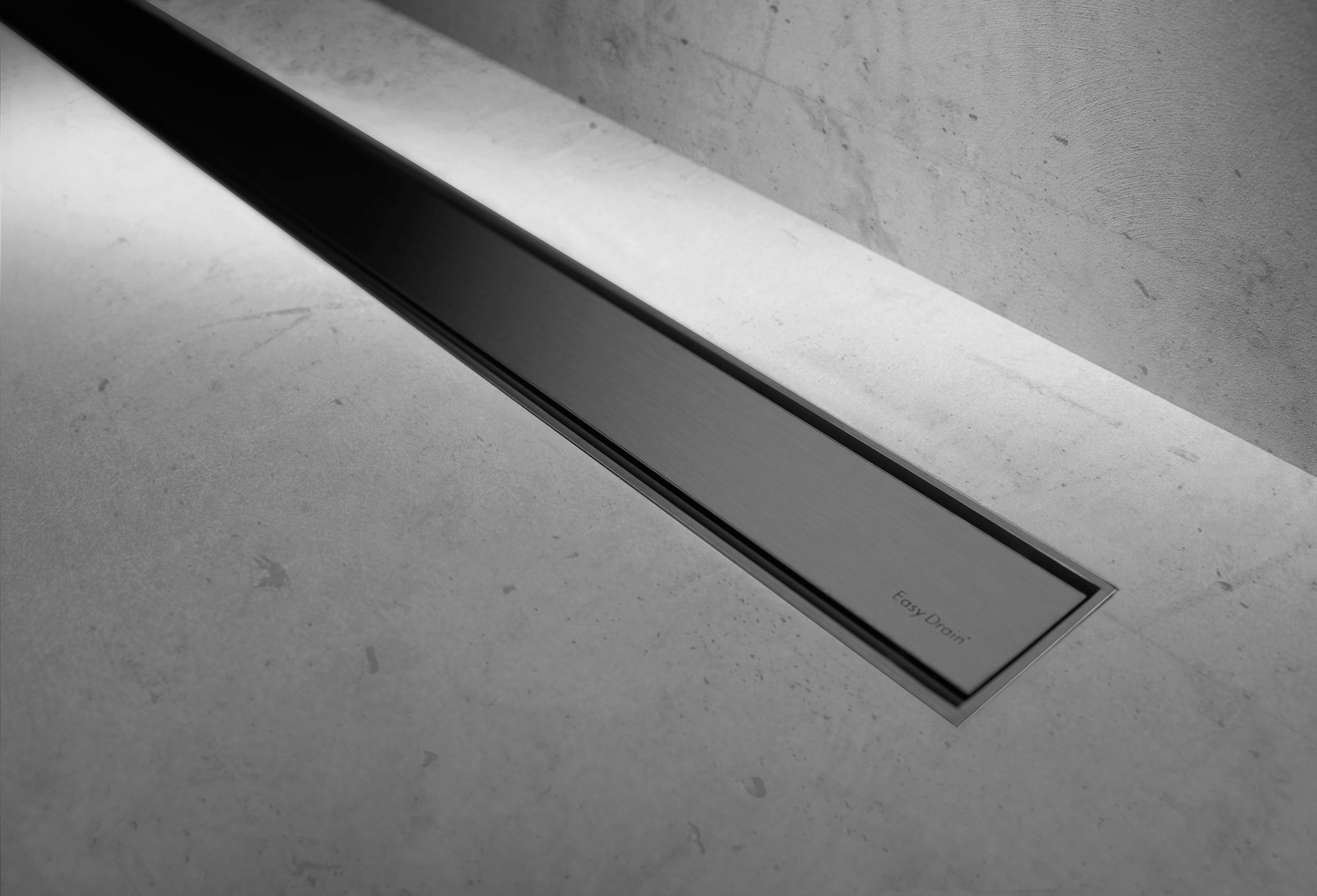 Modulo Taf Black Chrome Linear Drains From Easy Drain