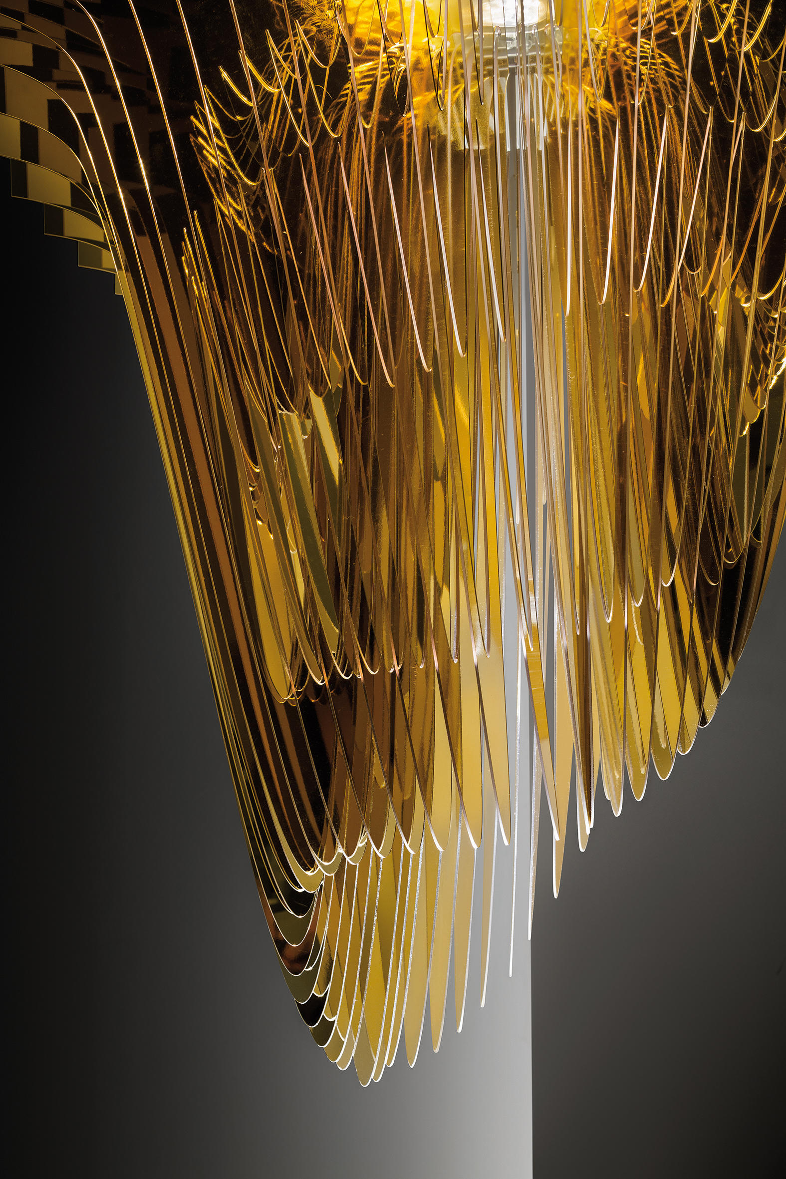 Aria Gold Suspension Suspended Lights From Slamp