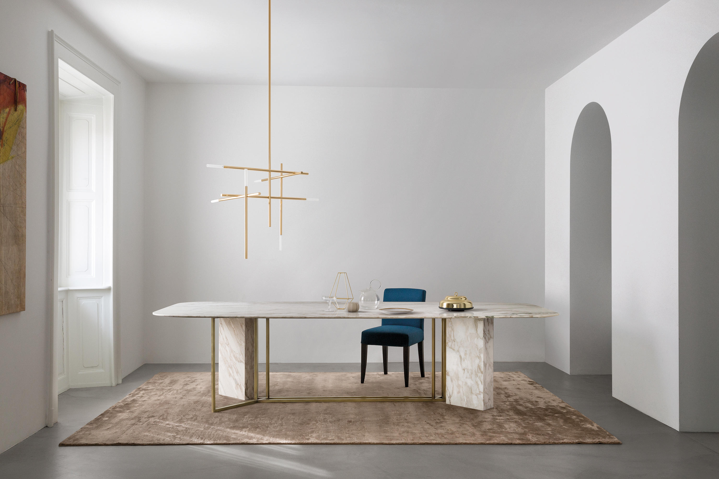 White marble meeting table combined with - Plinto Table Y2w Conference Tables Meridiani