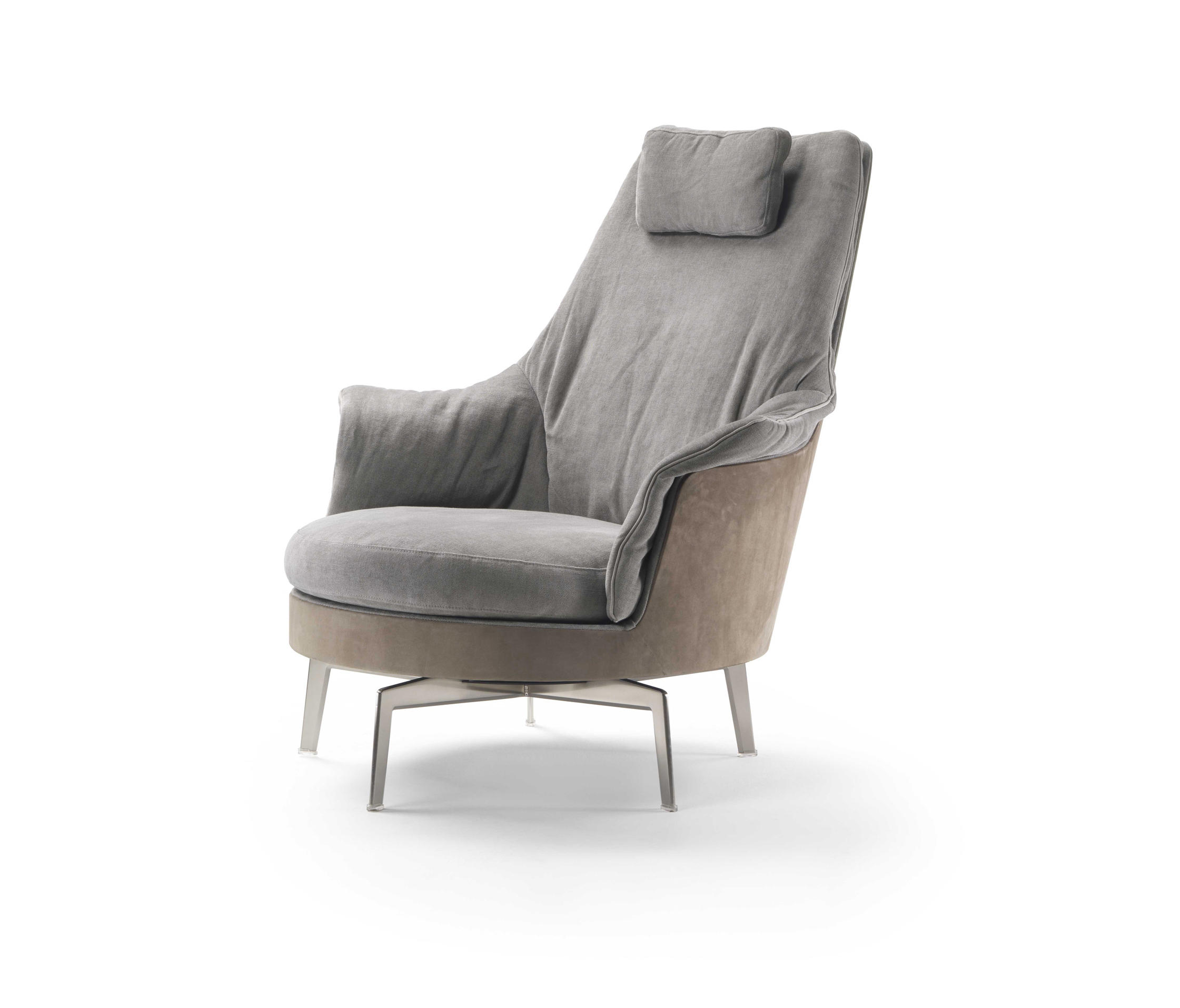 Guscioalto light armchair lounge chairs from flexform for Armchair furniture