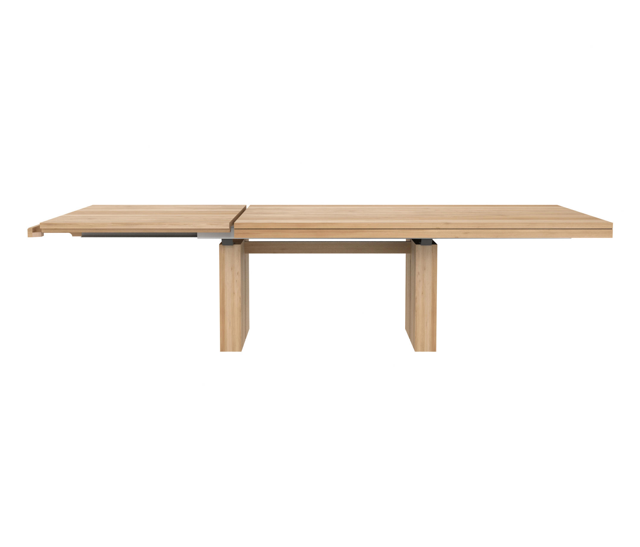Oak double extendable dining table restaurant tables from ethnicraft architonic - Oak extendable dining table ...