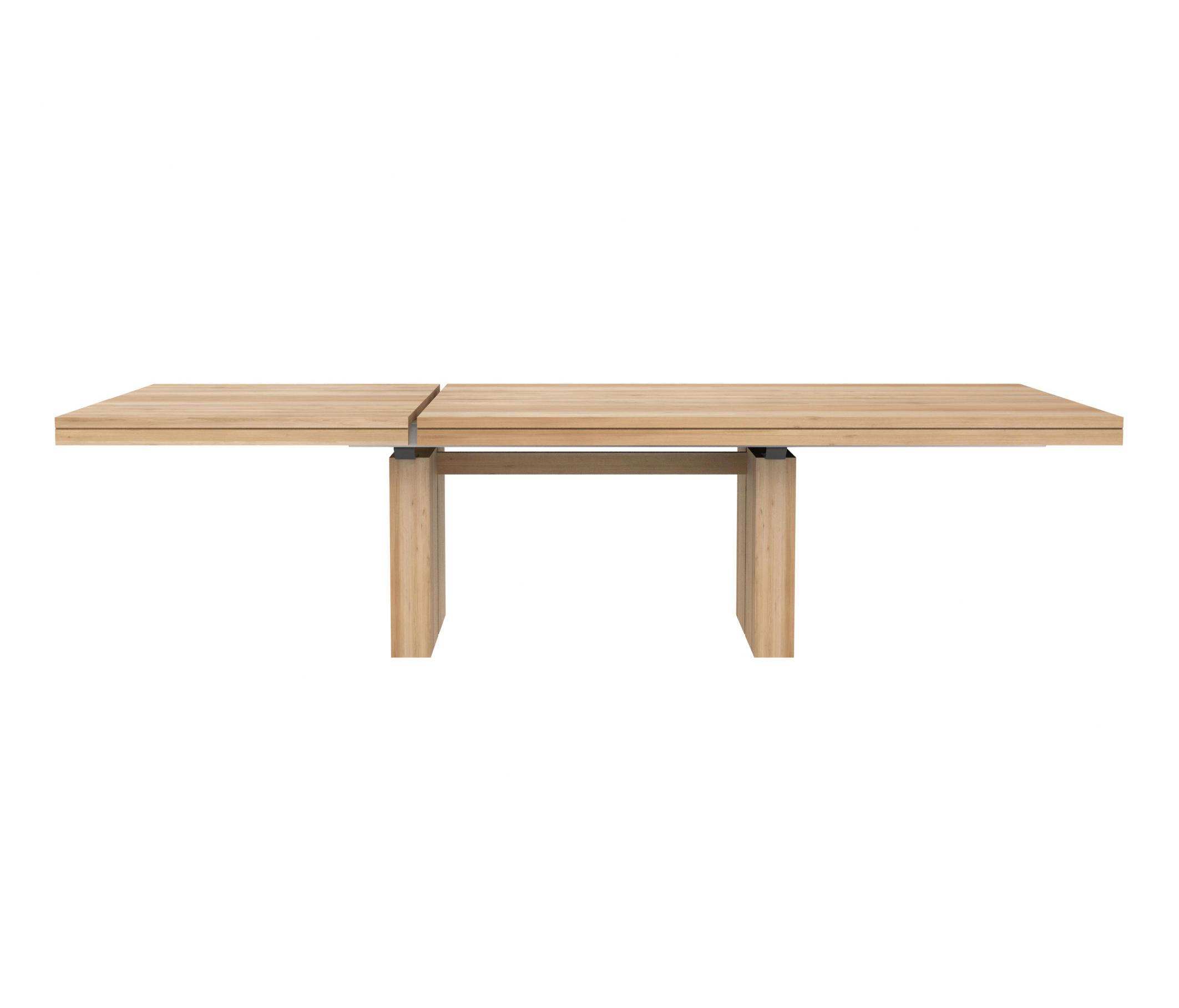 Oak double extendable dining table restaurant tables for Extendable dining table