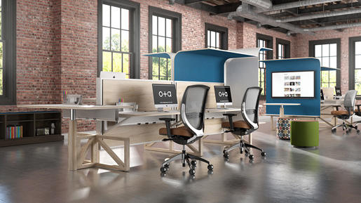 Canopy Table Dividers From Kimball Office Architonic