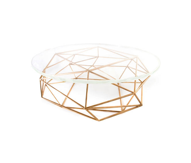 archimedes bronze coffee table w| glass top - lounge tables from