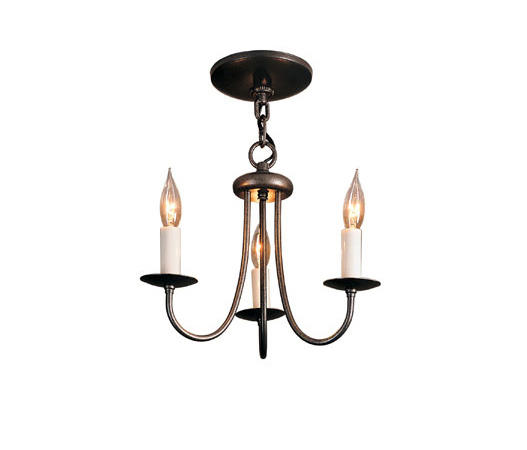Simple Lines 3 Arm Chandelier By Hubbardton Forge Chandeliers