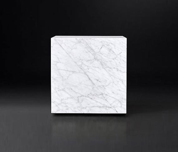 MARBLE PLINTH CUBE SIDE TABLE Coffee Tables From RH Contract - Marble cube coffee table