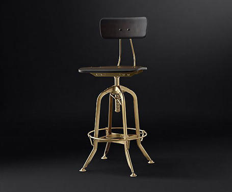 Vintage Toledo Bar Chair By RH Contract | Bar Stools