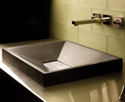 SYNC DROP-IN VESSEL SINK, HONED BASALT - Kitchen sinks from Stone ...