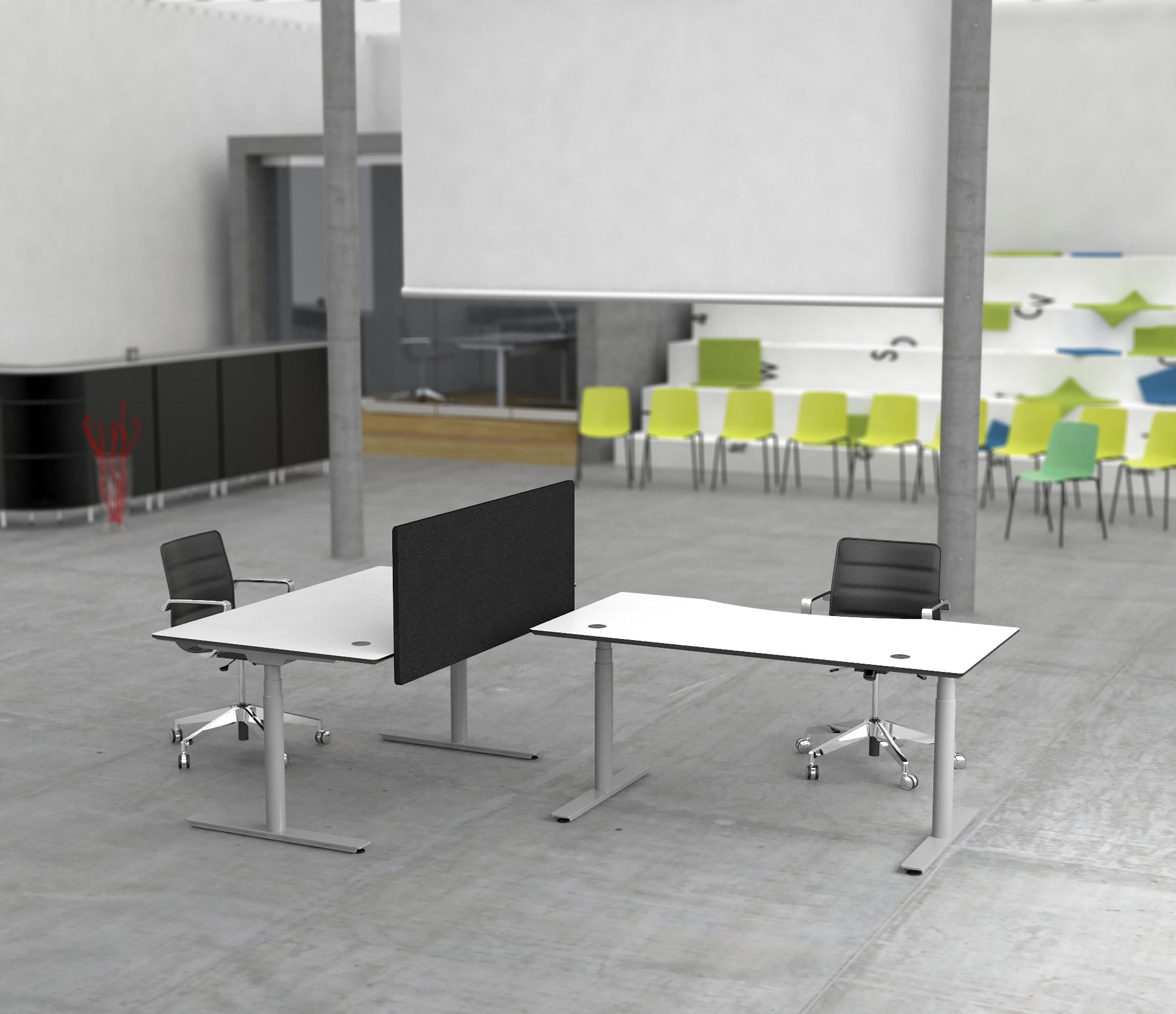 desk u shaped suites desks suite newvo sit showroom l interiors with ofs stand pl office