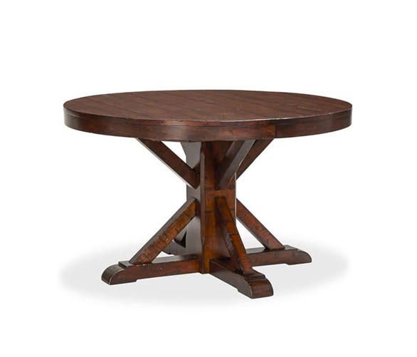 Benchwright Extending Pedestal Dining Table By Distributed Williams Sonoma