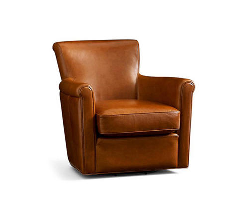 Irving Leather Swivel Armchair By Distributed By Williams Sonoma, Inc. TO  THE TRADE