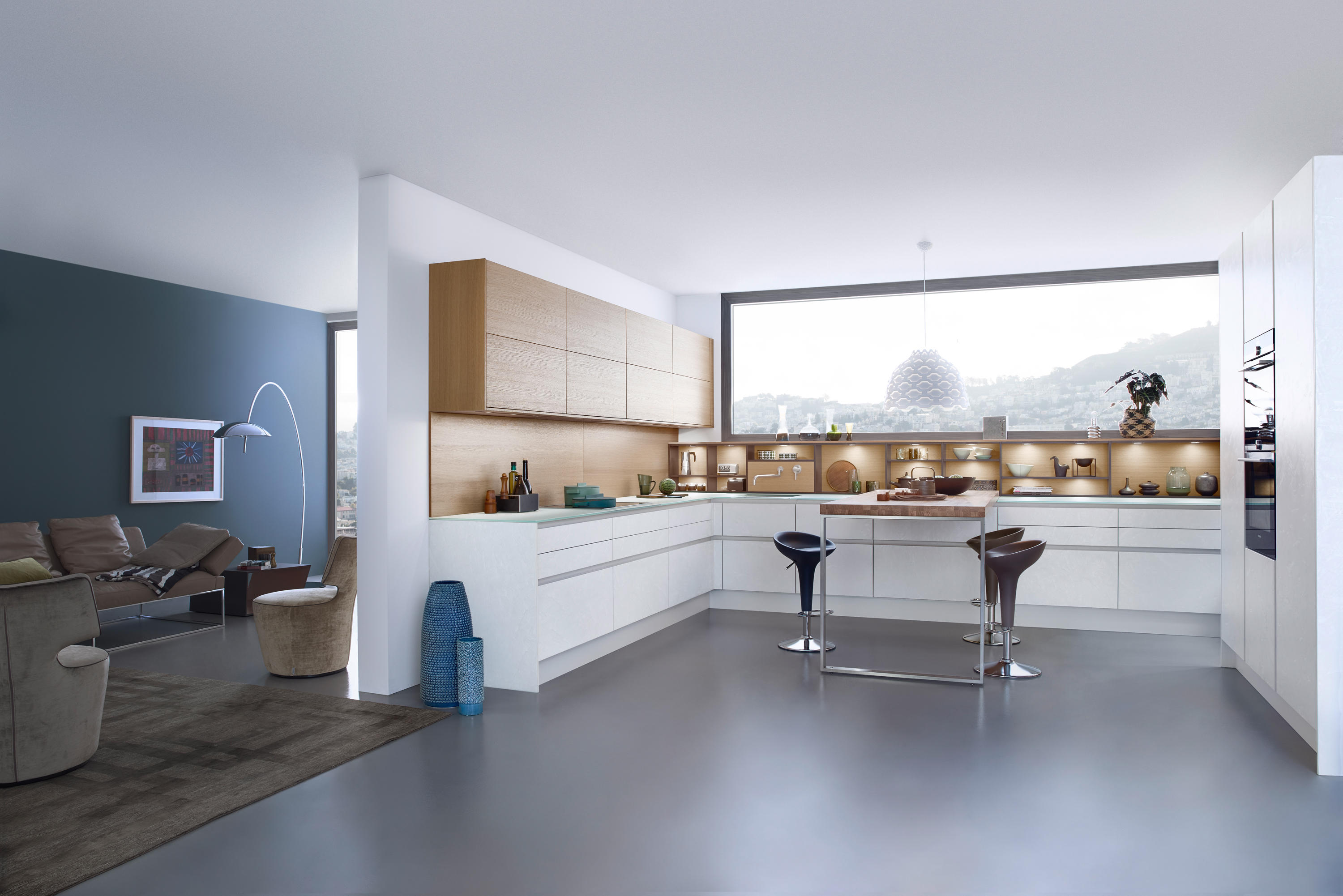 Classic küchen  CLASSIC-FS | TOPOS | CONCRETE-C - Fitted kitchens from Leicht ...