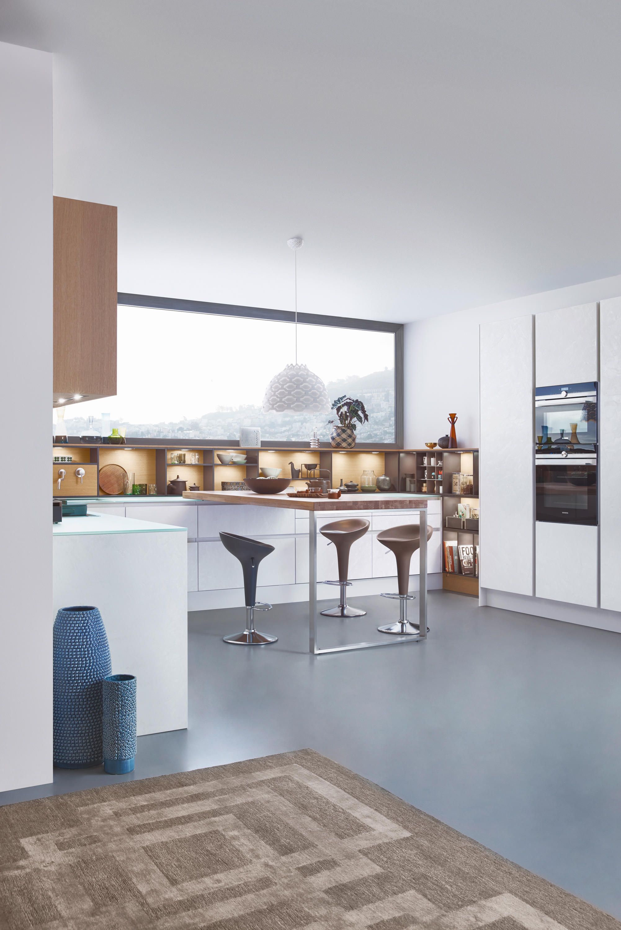Bdg Style Idaho Project Kitchen: CONCRETE-C - Fitted Kitchens From Leicht Küchen AG
