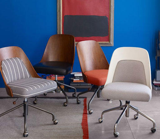 Bentwood Office Chair And Cushion By Distributed Williams Sonoma Inc To The