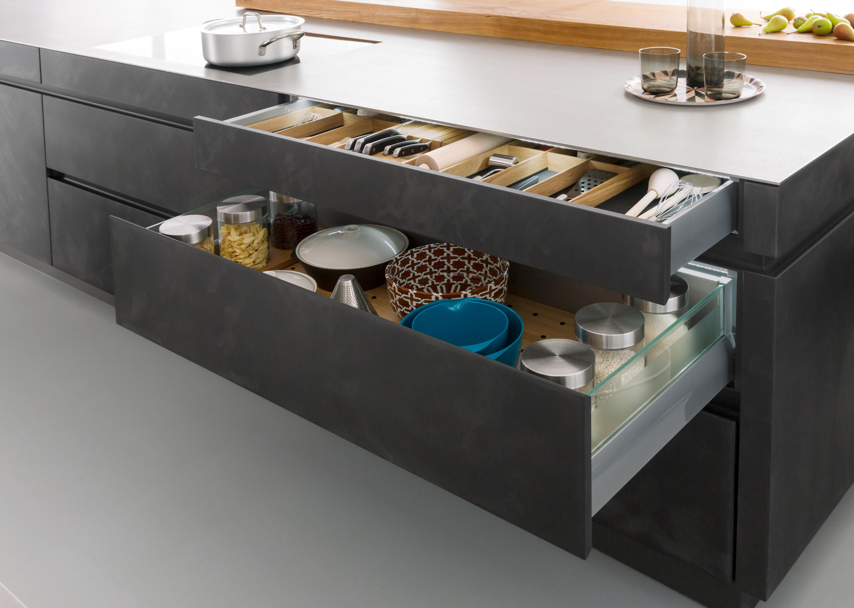 tocco concrete a einbauk chen von leicht k chen ag architonic. Black Bedroom Furniture Sets. Home Design Ideas