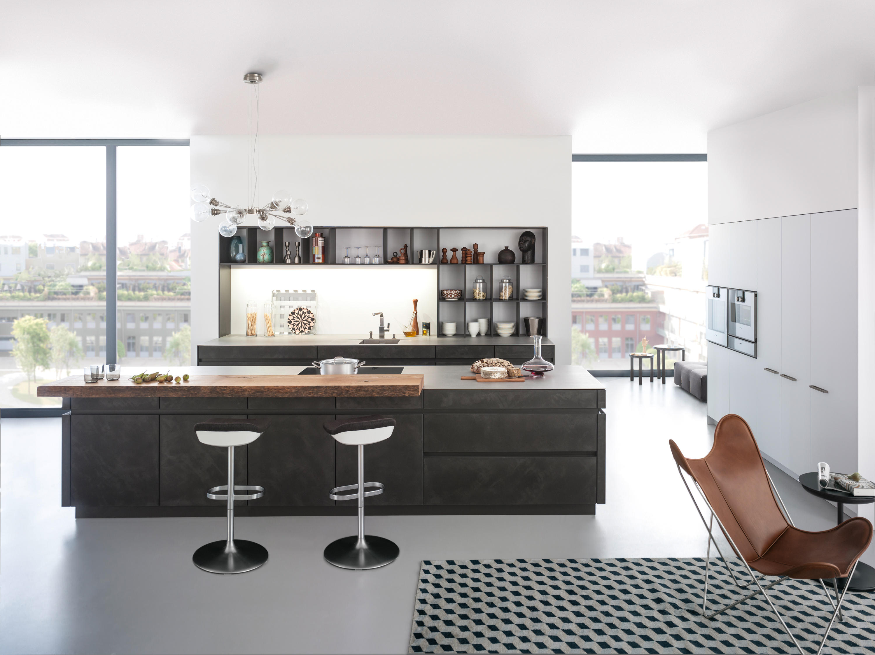 tocco concrete a fitted kitchens from leicht k chen ag. Black Bedroom Furniture Sets. Home Design Ideas