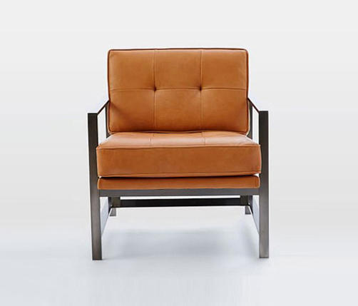 ... Metal Frame Leather Chair By Distributed By Williams Sonoma, Inc. TO  THE TRADE ...