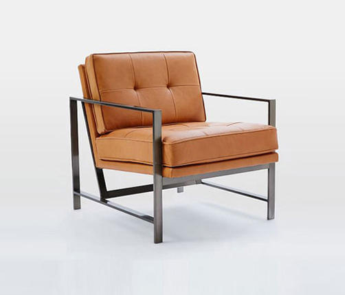 Exceptionnel Metal Frame Leather Chair By Distributed By Williams Sonoma, Inc. TO THE  TRADE ...