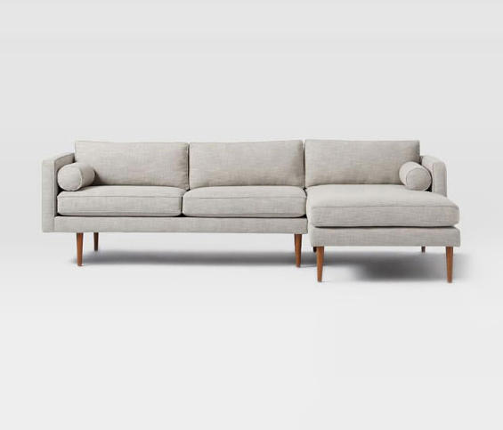 Monroe Mid Century 2 Piece Chaise Sectional Sofas From Distributed