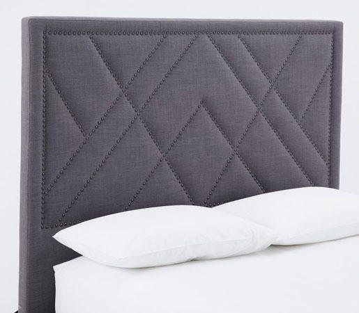 PATTERNED NAILHEAD UPHOLSTERED HEADBOARD Bed Headboards From Stunning Patterned Headboards