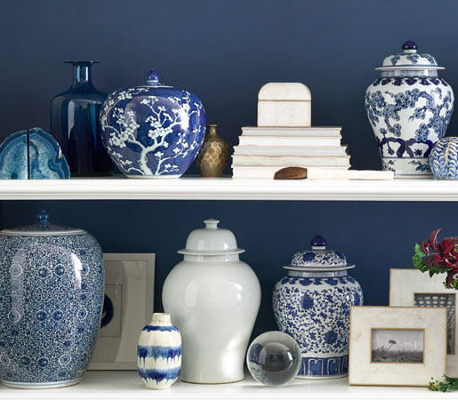 Blue White Floral Ginger Jar Vases From Distributed By Williams