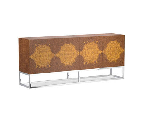 Wythe Burled Wood Double Console By Distributed Williams Sonoma