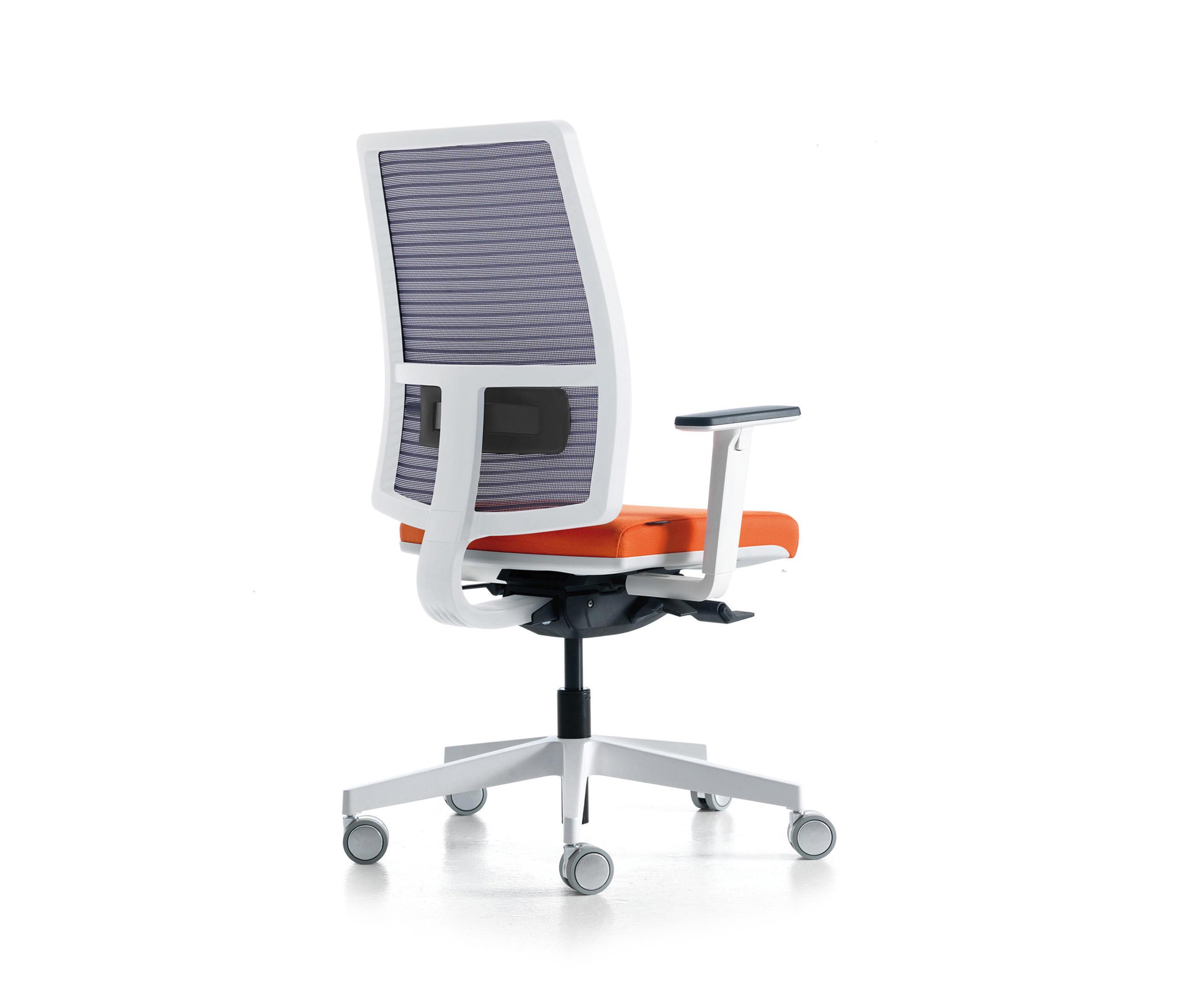 Sugar Net White 668ba By Quinti Sedute   Office Chairs