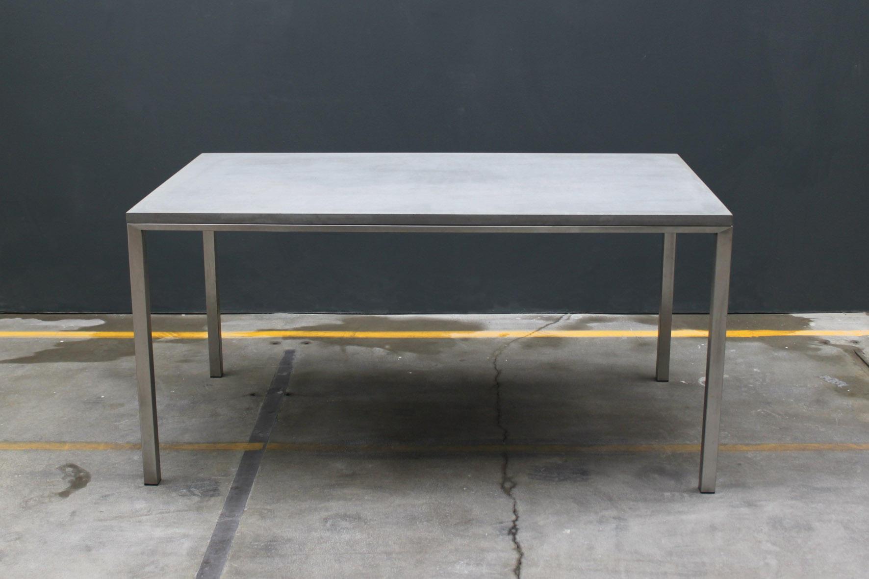dinner table dining tables from concrete home design. Black Bedroom Furniture Sets. Home Design Ideas