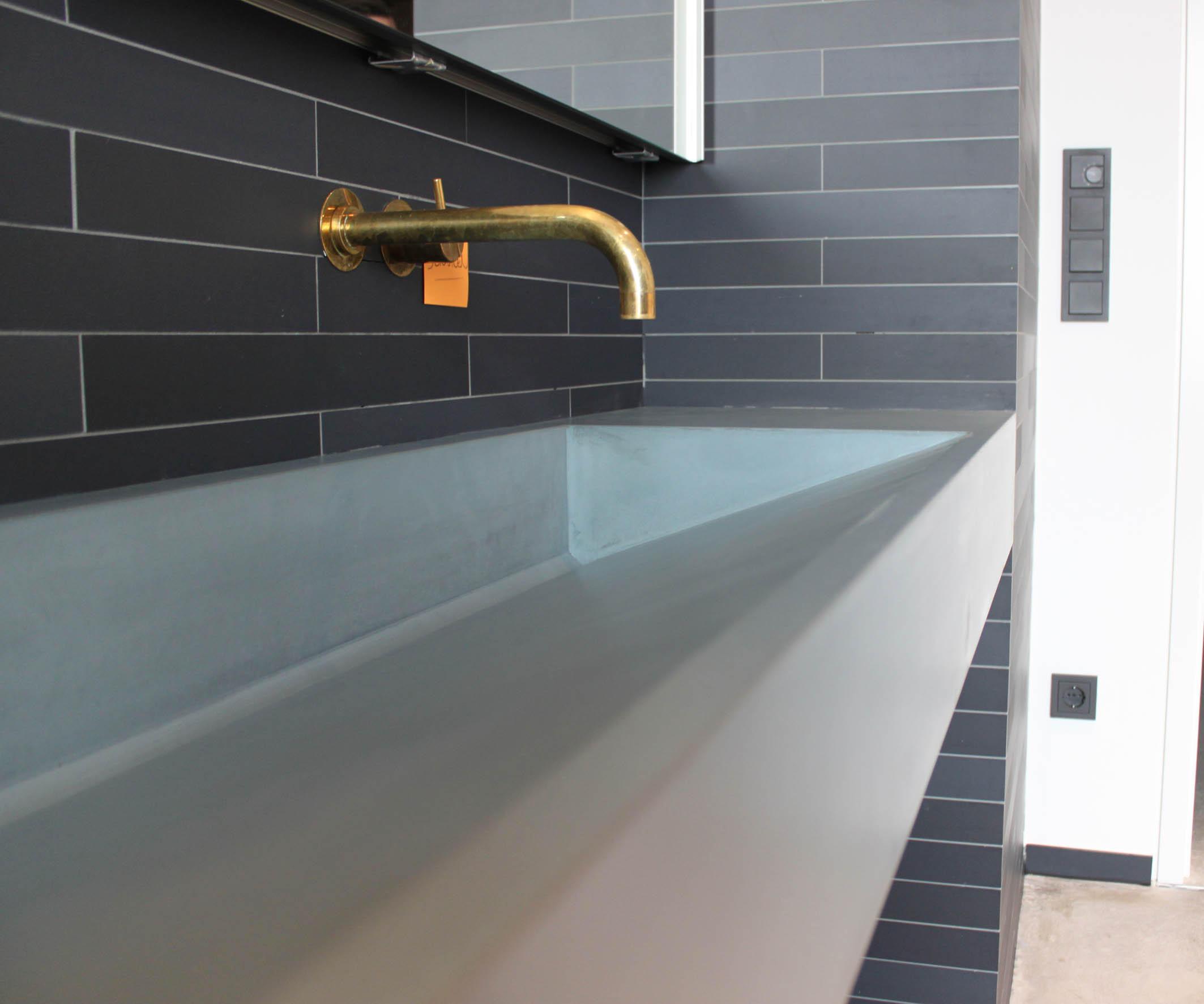 Badezimmer Beton