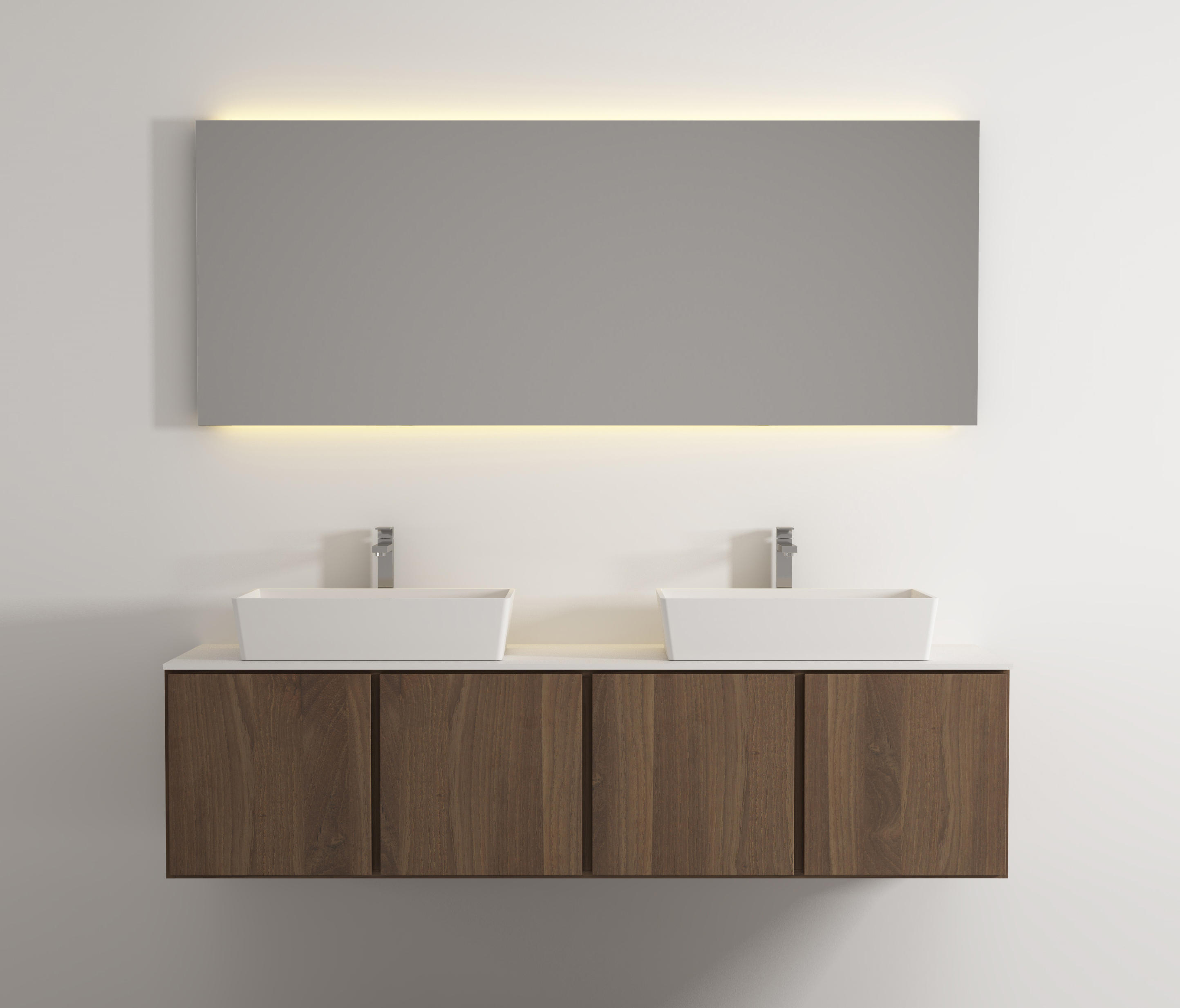 move hanging cabinet 4 doors double washbasin by idi studio vanity units