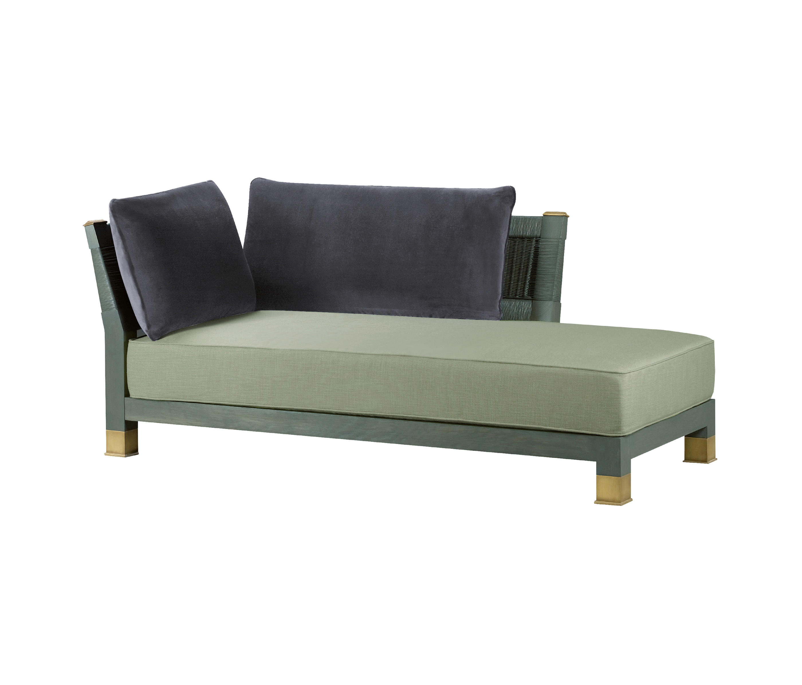 Chaise longue sofa 485 forum sofa with chaise longue by for Couch with 2 chaises