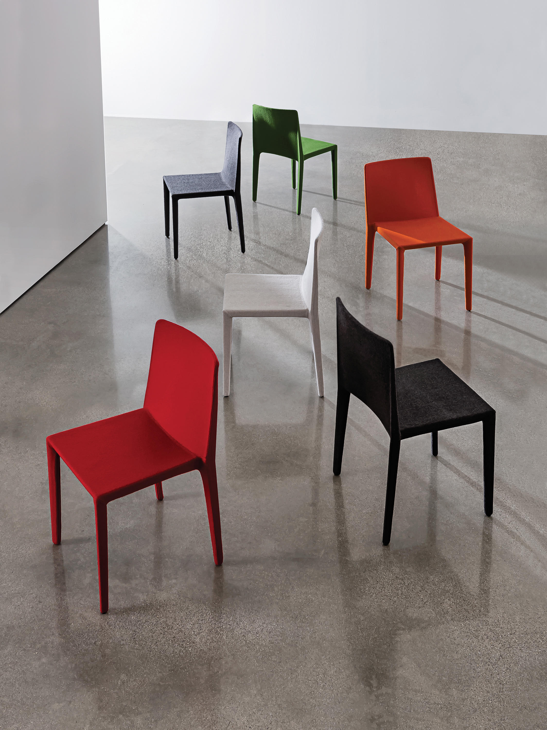 chairs with seat in stretched fabric high quality designer