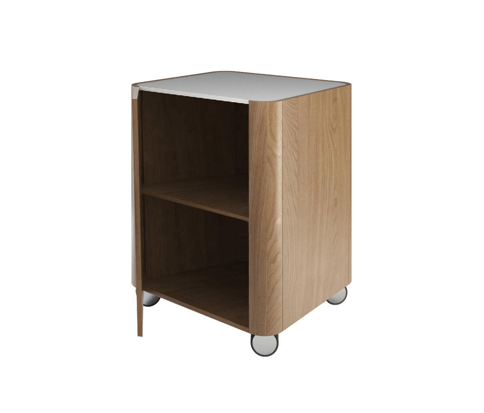 Product Portable Storage : Beauty cabinet stool with wheels portable