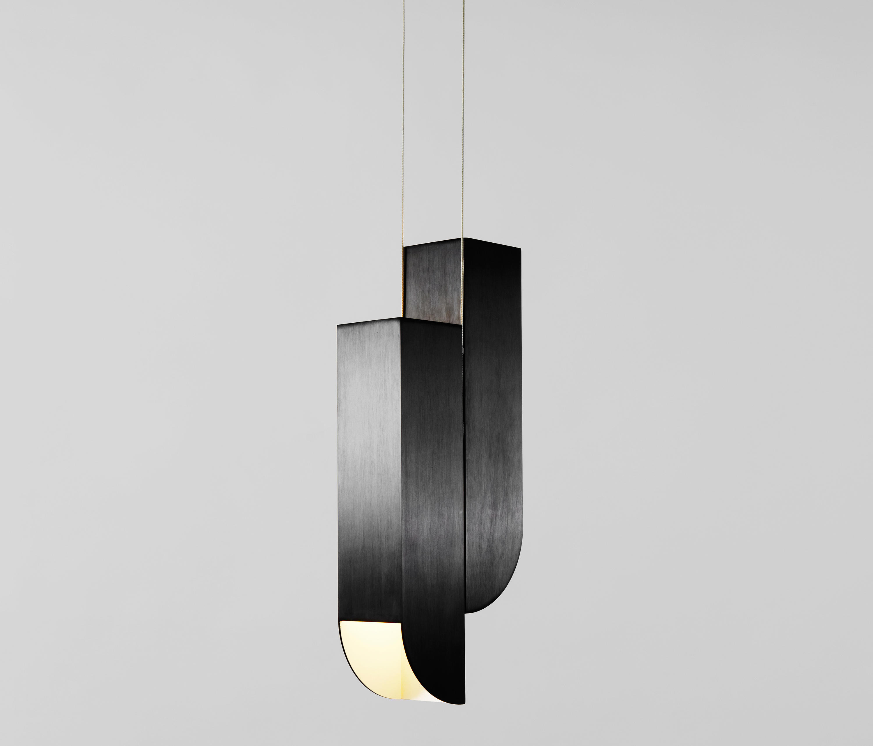 atelier black painted pendant