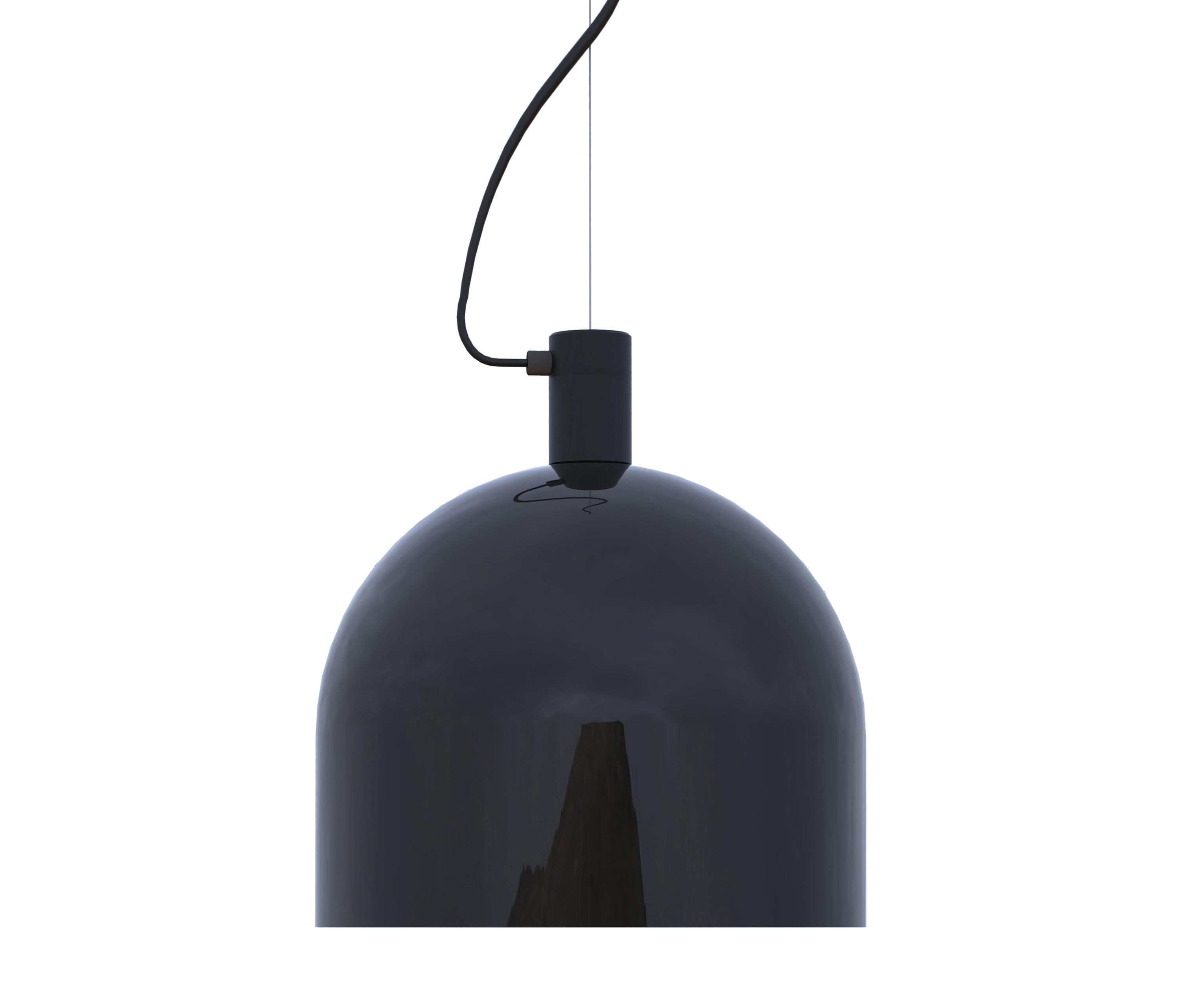 Helm Pendant Xl Black Suspended Lights From Luxxbox